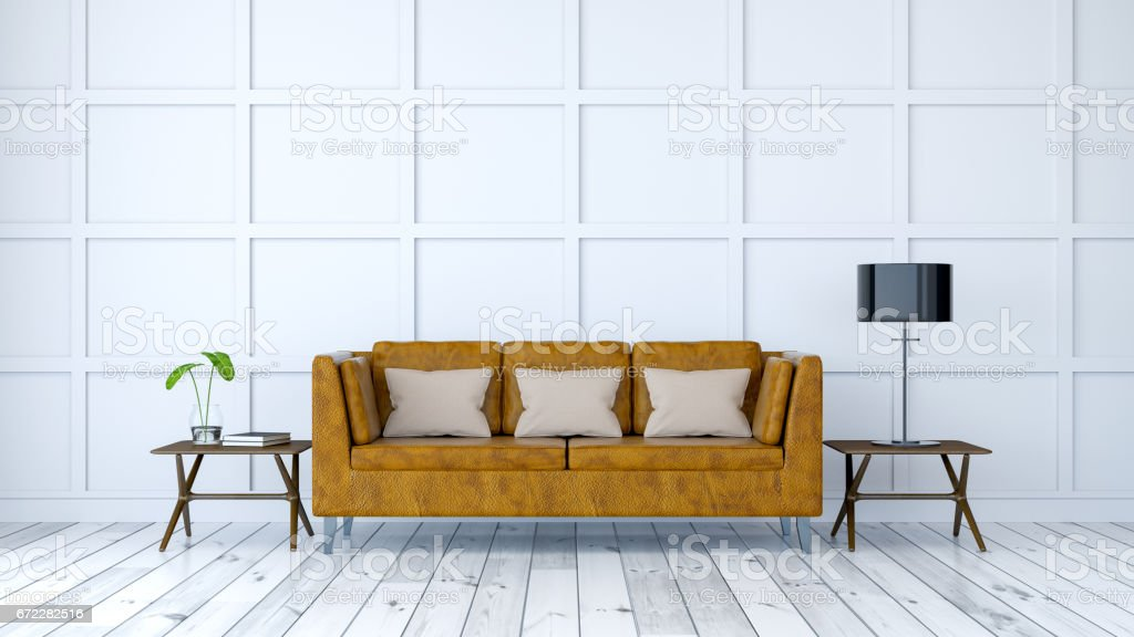 old leather furniture minimalist room interior design old leather sofa with white wall