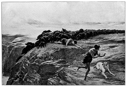 Illustration of a Miracle of the Gaderene Swine