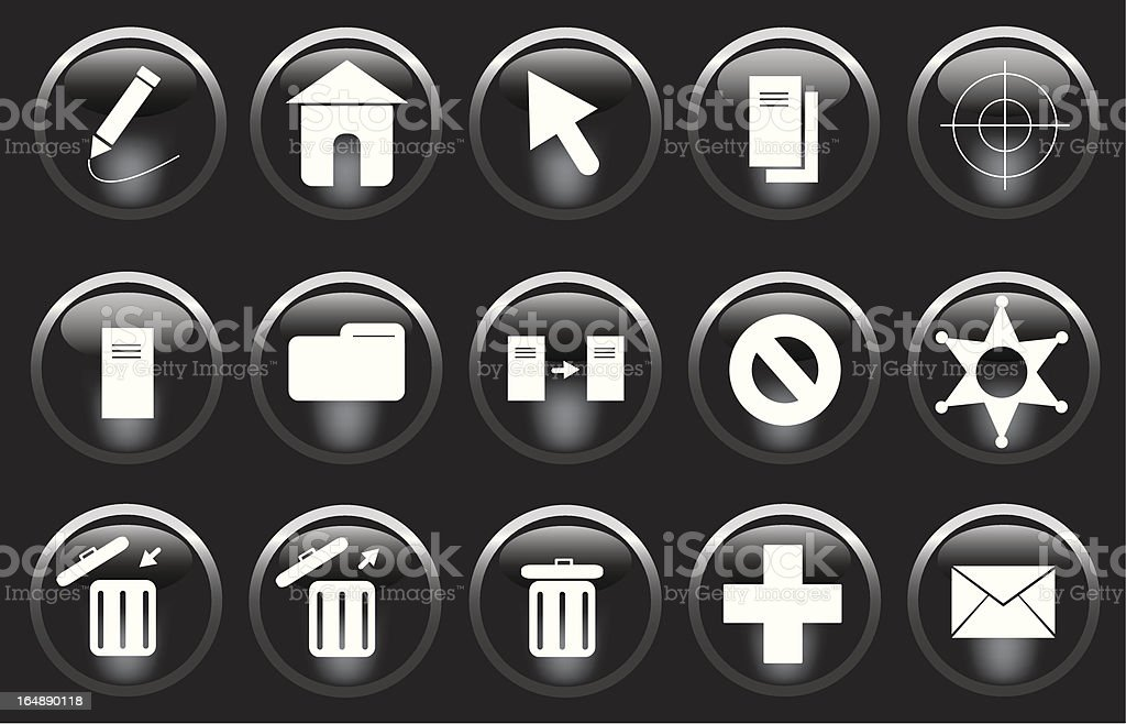 Miscellaneous Buttons royalty-free stock vector art