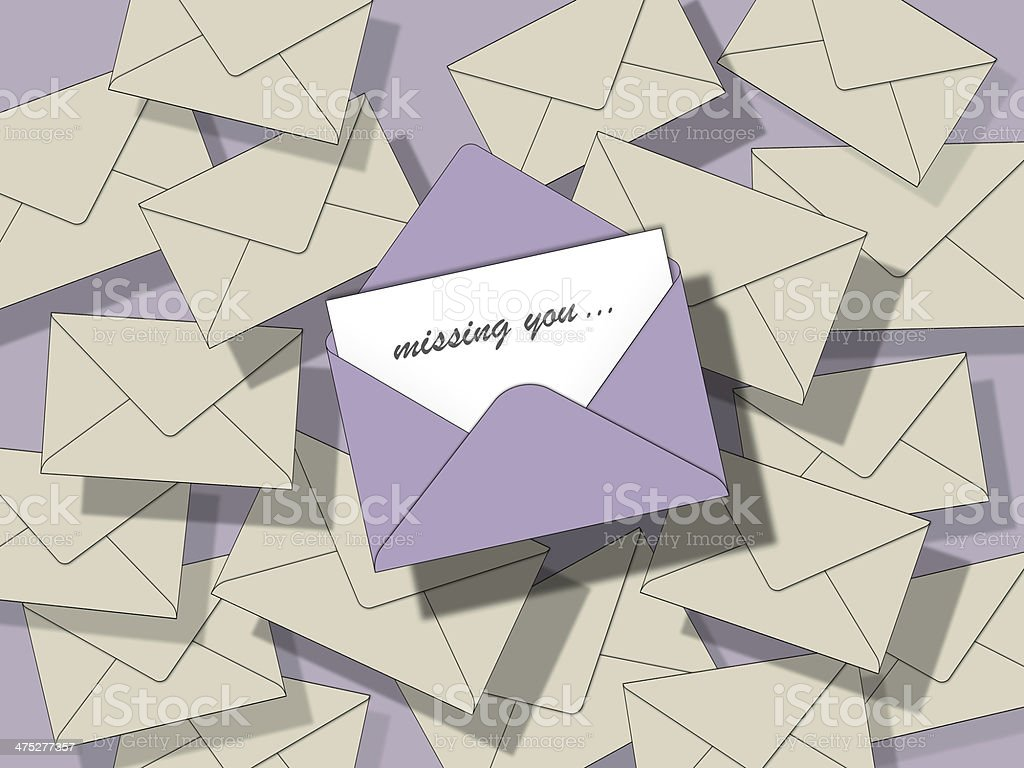 miss you letter royalty-free stock vector art