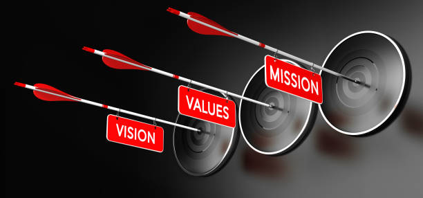Mission, Vision and Values Statements vector art illustration