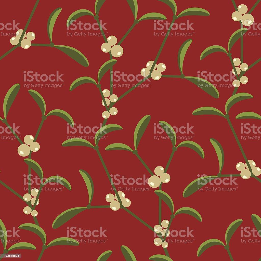 Mistletoe background pattern royalty-free mistletoe background pattern stock vector art & more images of backgrounds