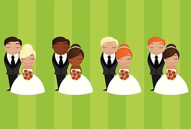 Mix & Match Cake Toppers vector art illustration