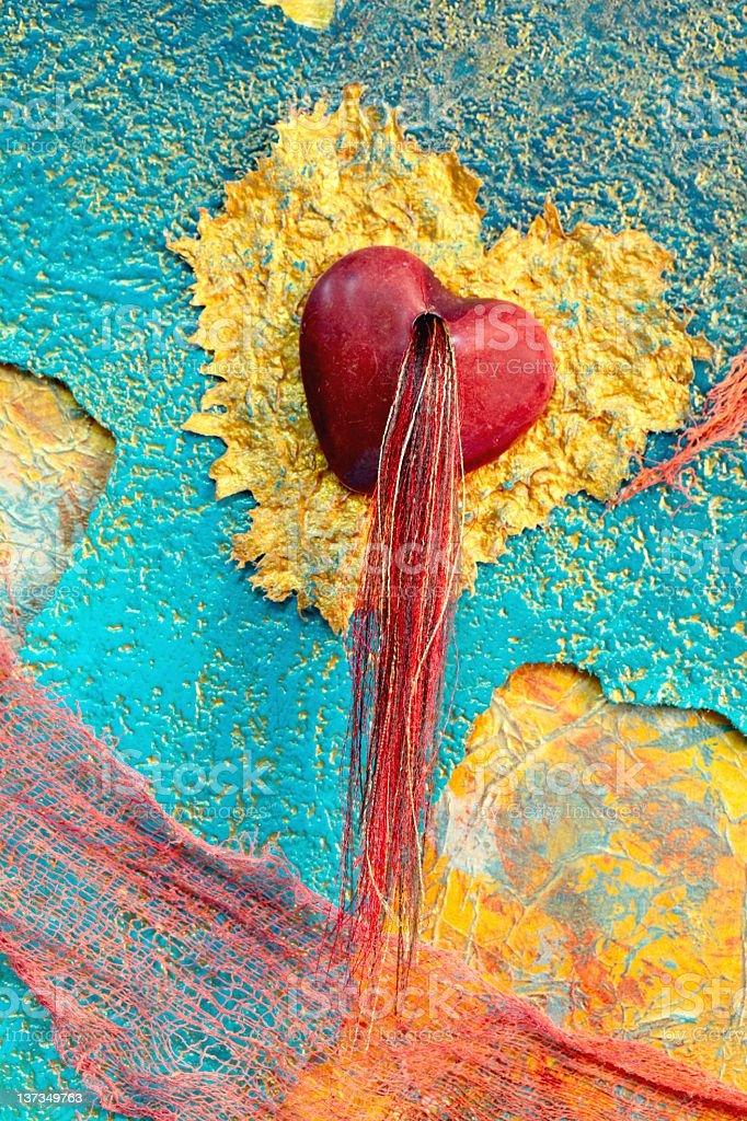 Mixed Media Art with Hearts royalty-free stock vector art