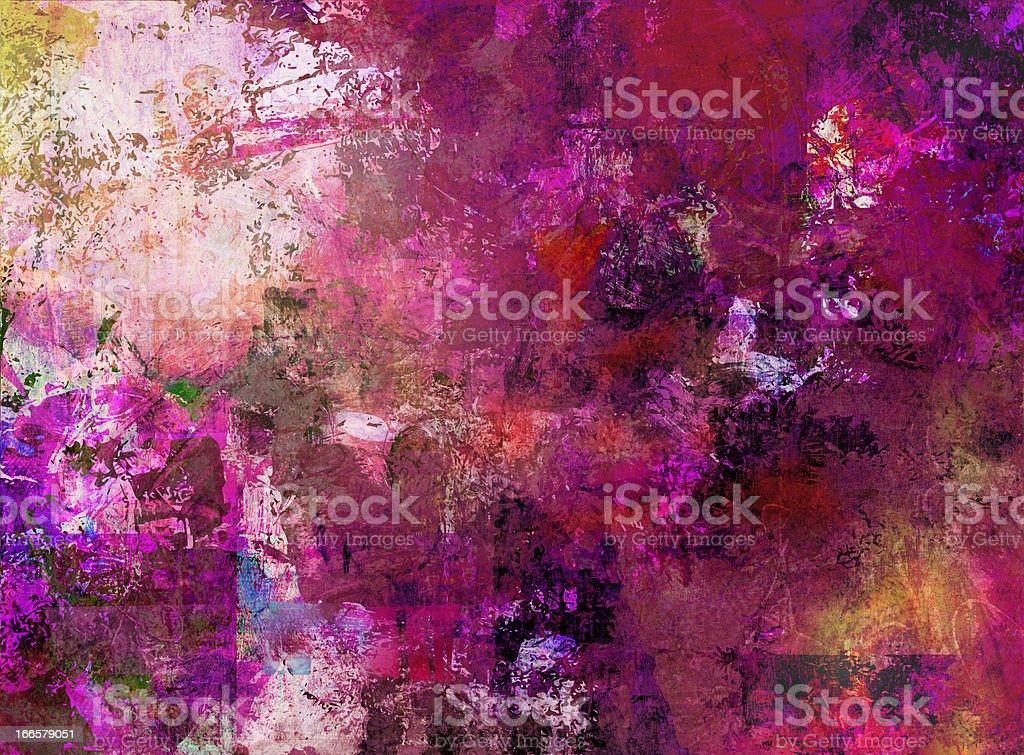 mixed media painting vector art illustration