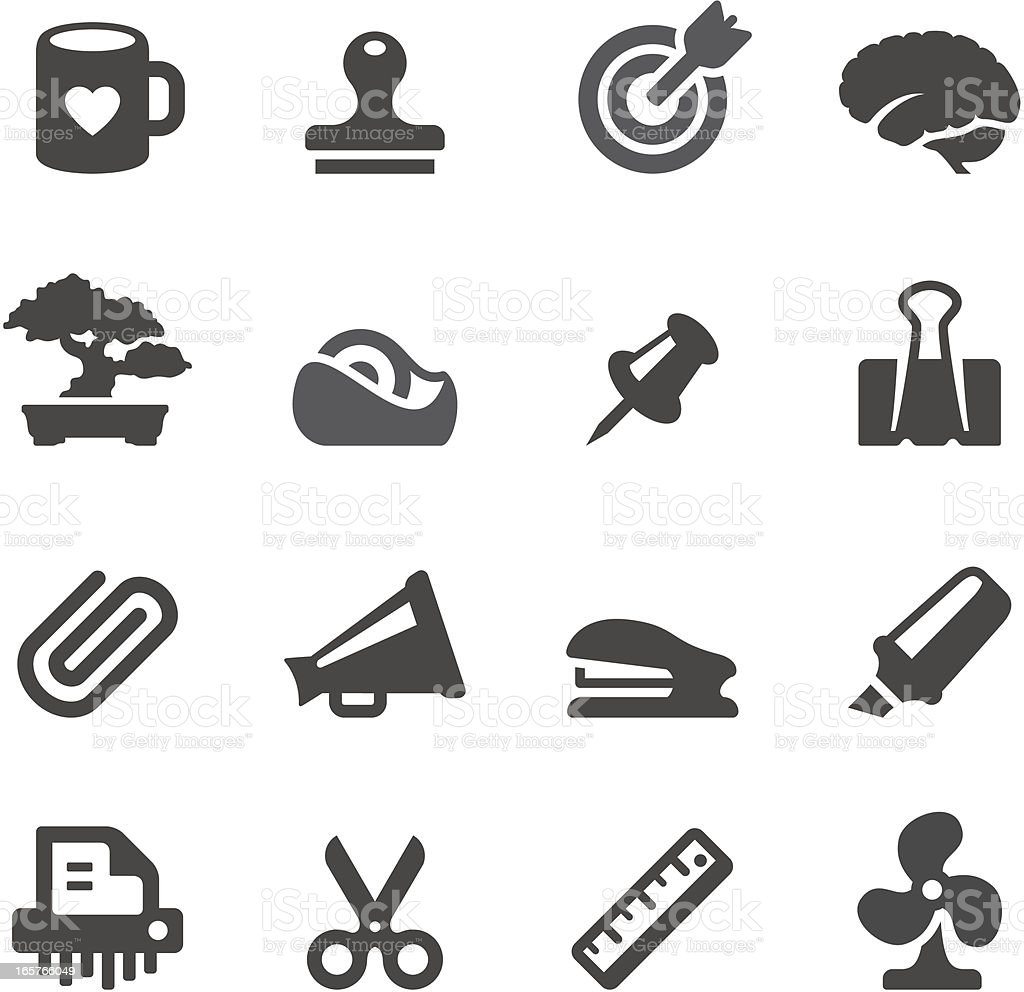 Mobico icons — Office tools vector art illustration