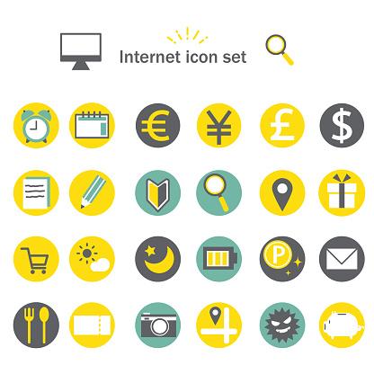 mobile app icon set