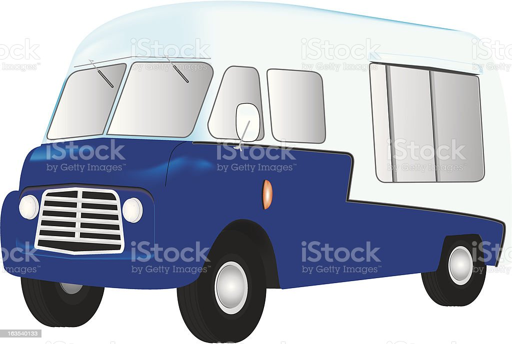 Mobile Catering Van royalty-free stock vector art