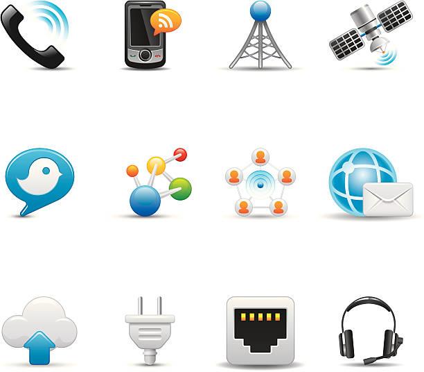 Mobile Icon Set | Elegant Series vector art illustration