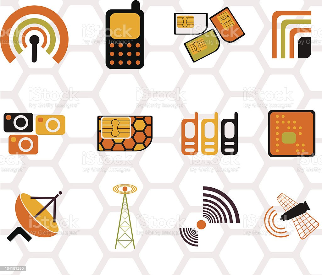 mobile royalty-free mobile stock vector art & more images of antenna - aerial