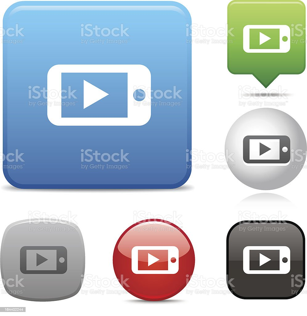 Mobile Media Player icon royalty-free mobile media player icon stock vector art & more images of black color