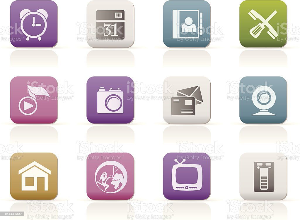 mobile phone and computer icons royalty-free stock vector art