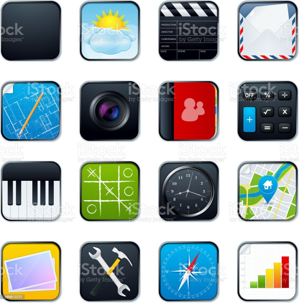 Mobile Phone Icons royalty-free mobile phone icons stock vector art & more images of address book