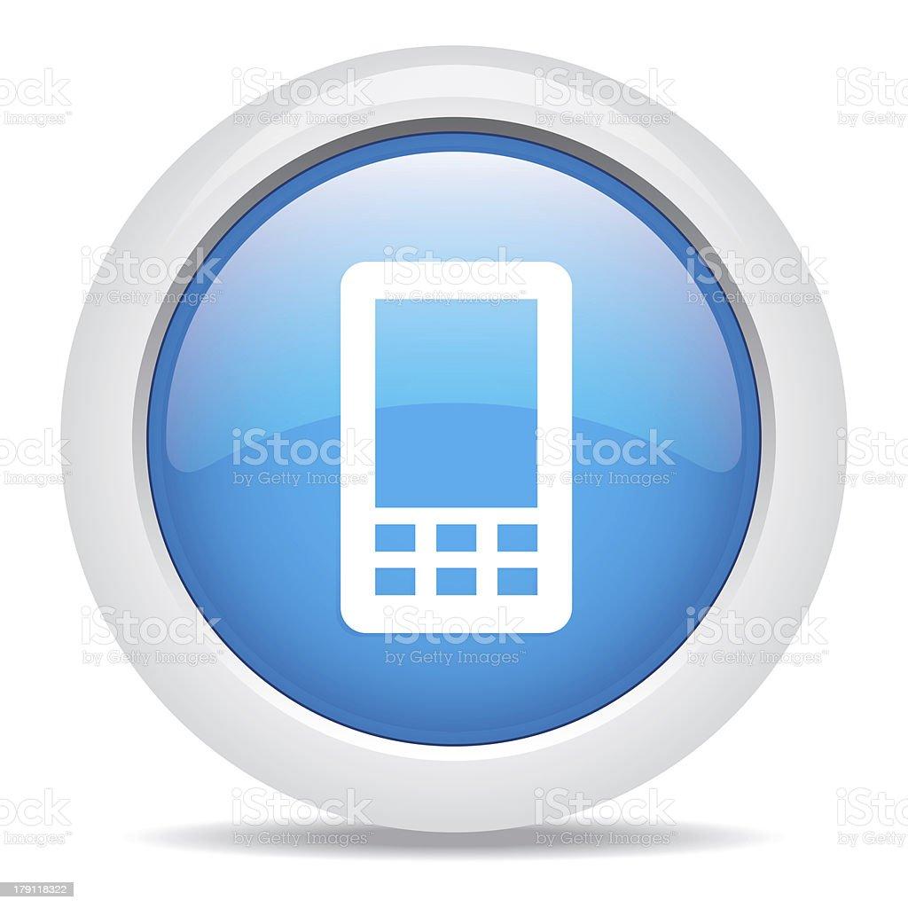 Telefono Cellulare Isolato Su Sfondo Bianco Immagini Vettoriali