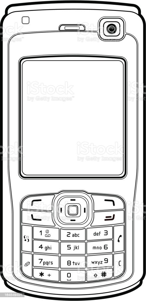 Mobile phone outline royalty-free mobile phone outline stock vector art & more images of communication