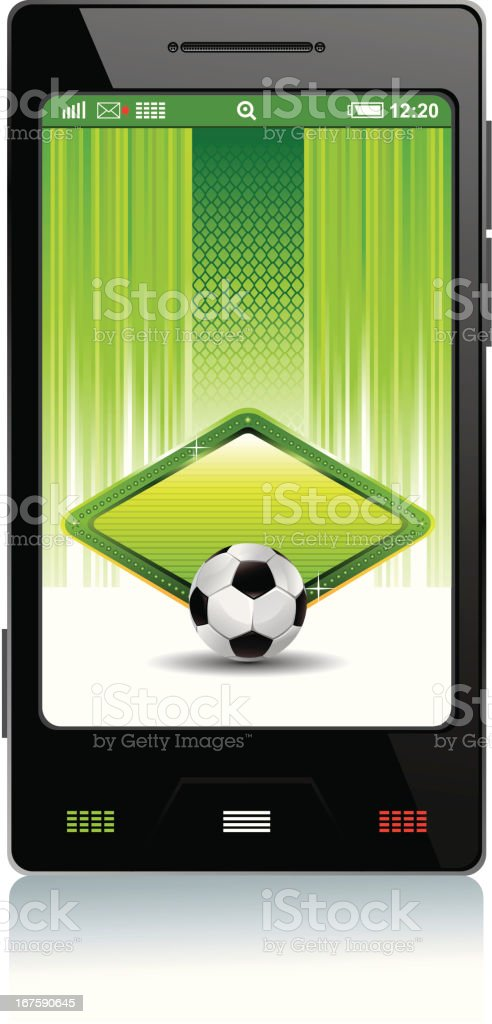 mobile soccer background royalty-free mobile soccer background stock vector art & more images of backgrounds