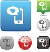 Mobile Social Media icon