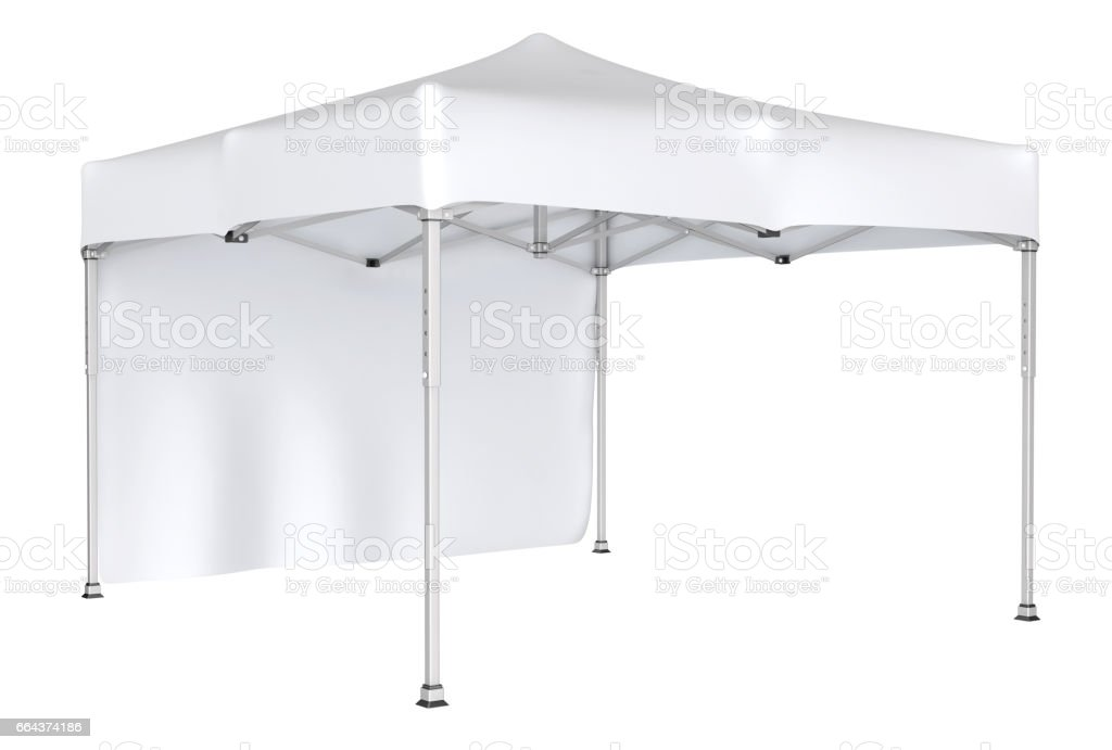 Mobile tent advertising marquee vector art illustration