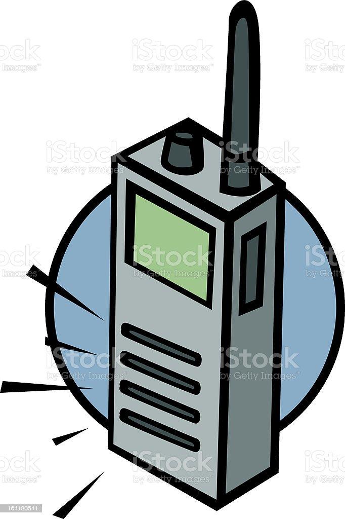 mobile two-way radio royalty-free stock vector art