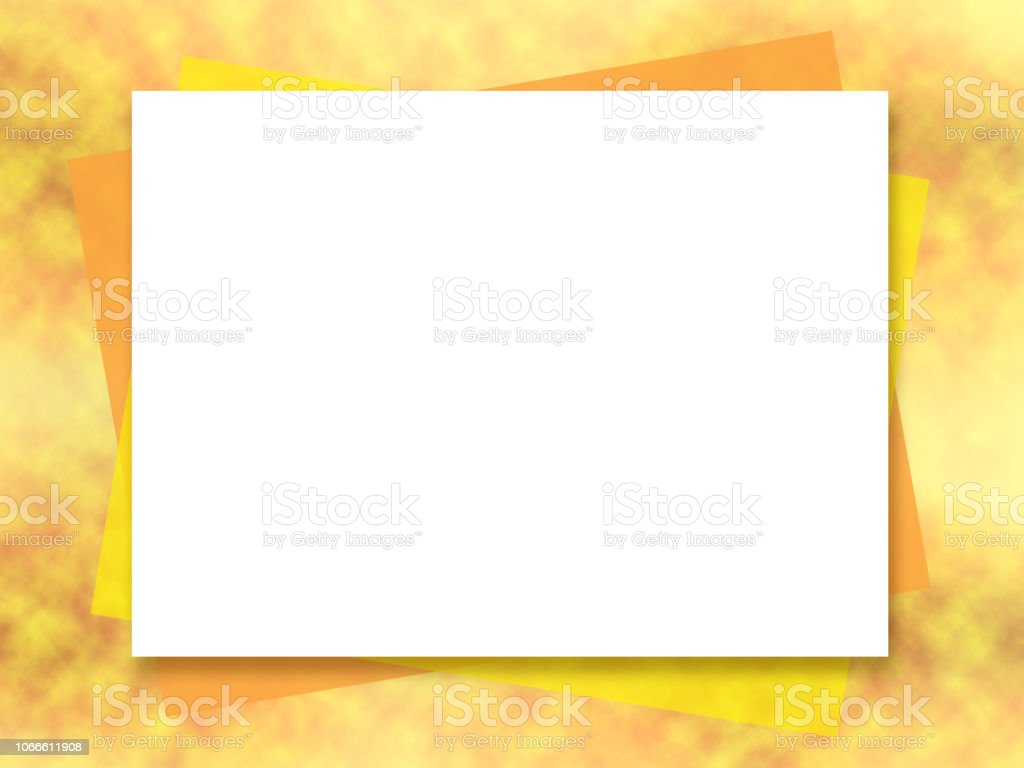 mock up template bright yellow orange abstract background white