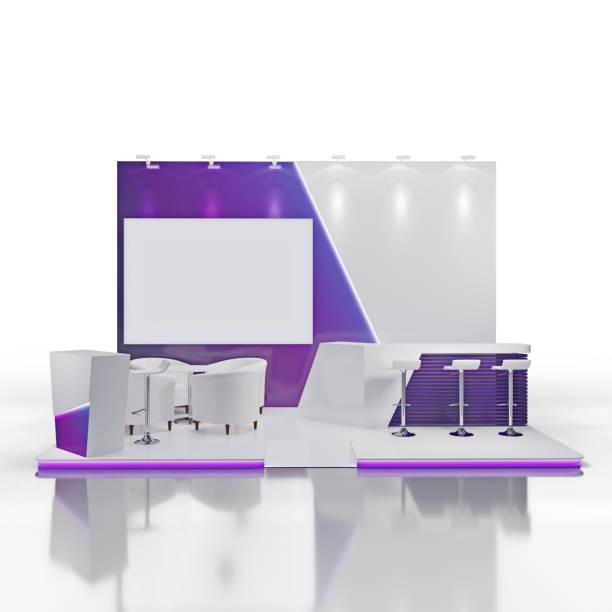 Mockup von Exhibtion Stand Design. – Vektorgrafik