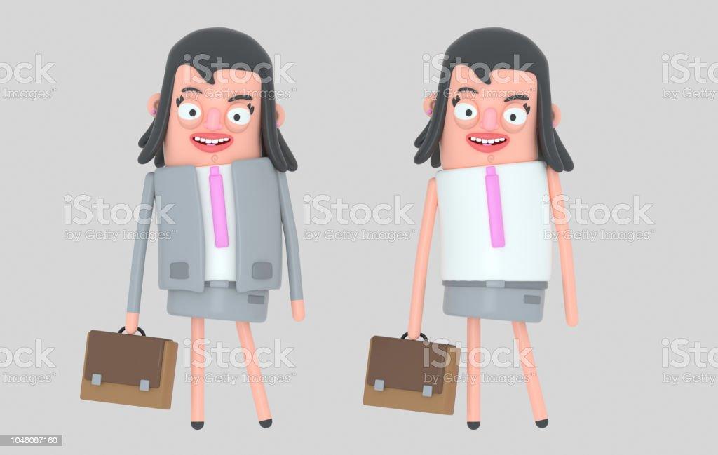 Moderna mujer de negocios hermosa - ilustración de arte vectorial