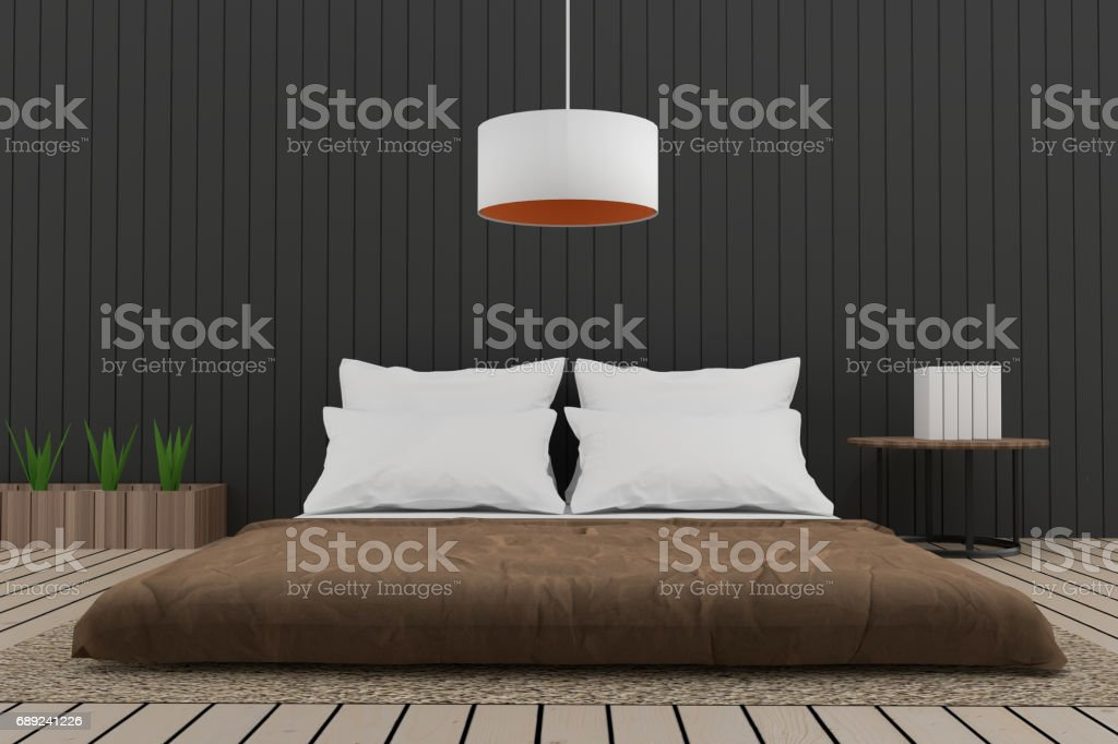 modern bedroom interior loft in 3d render image royalty free stock vector art