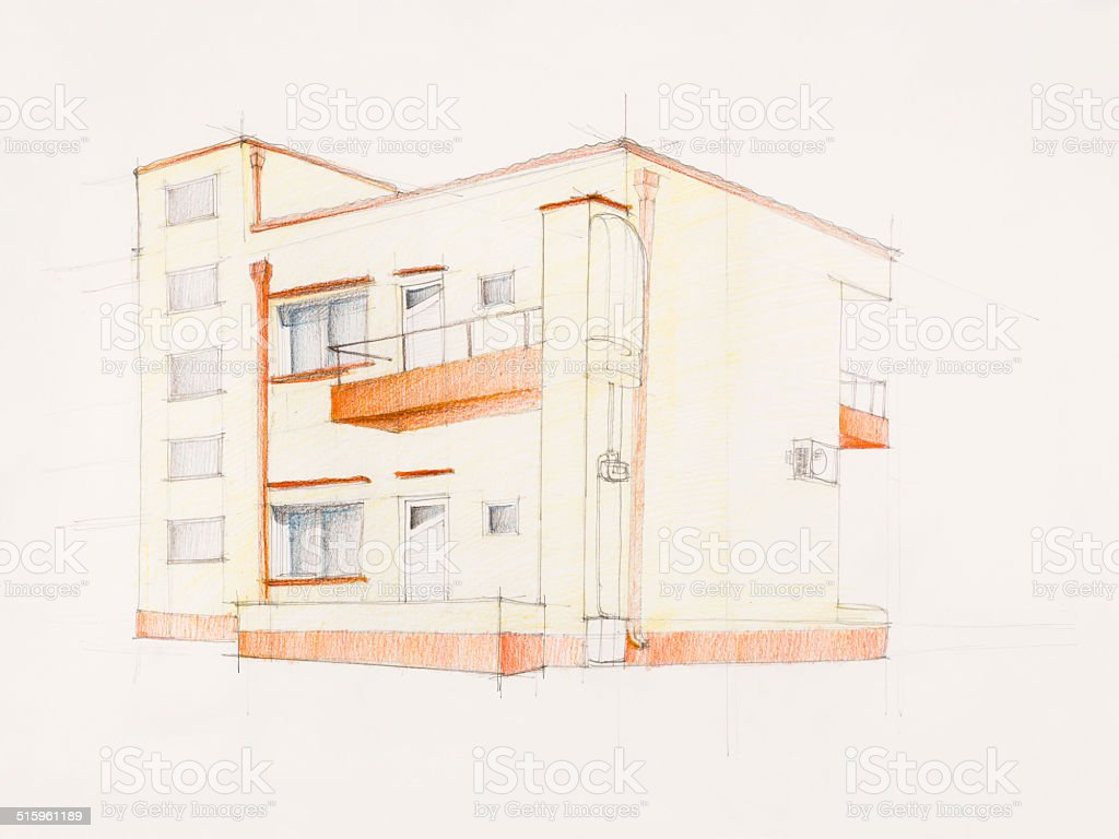 Moderne Block Von Flats Vektor Illustration 515961189 Istock