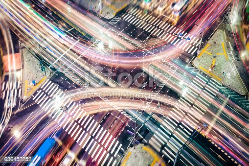 istock Modern City Concepts: intersection 636452252
