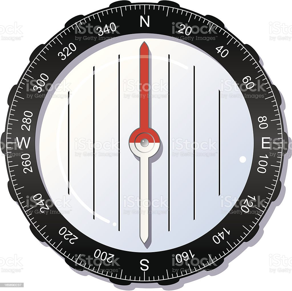 Modern compass. royalty-free stock vector art