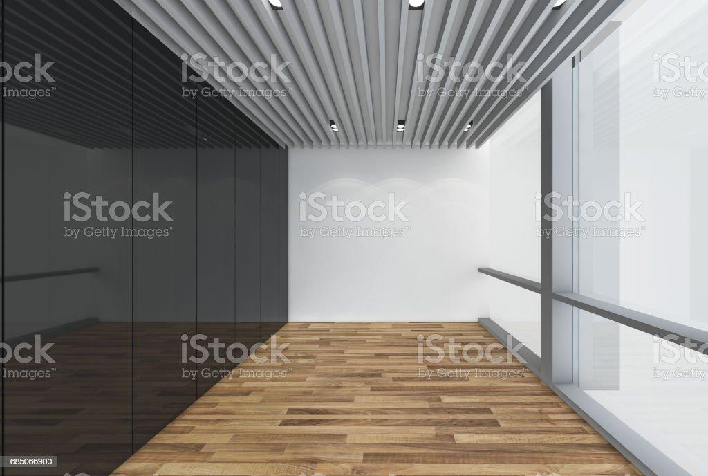 . Modern Empty Room 3d Render Interior Design Mock Up Illustration Stock  Vector Art   More Images of Apartment