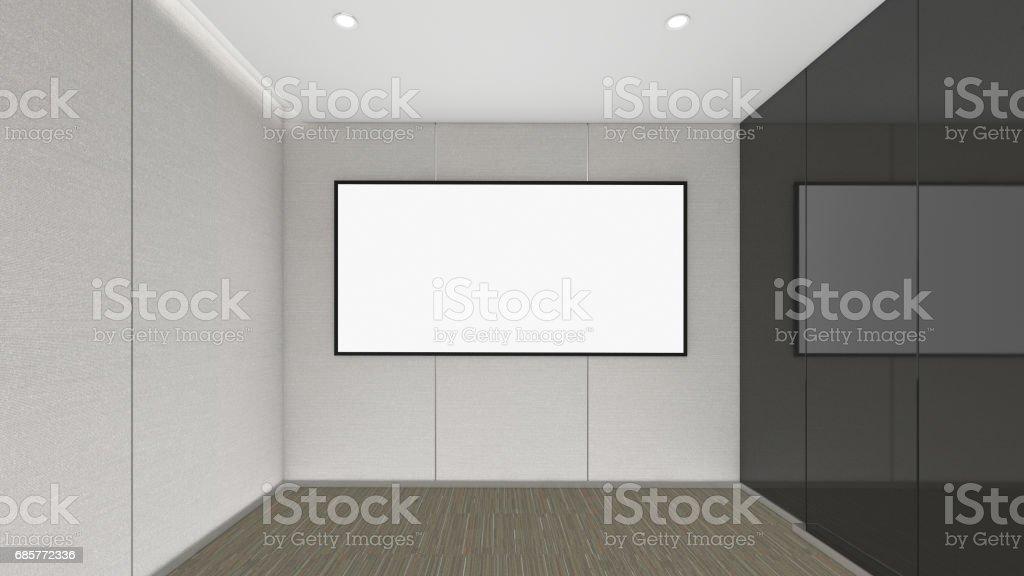 Modern Empty Room, 3d render interior design, mock up illustration royalty-free modern empty room 3d render interior design mock up illustration stock vector art & more images of apartment