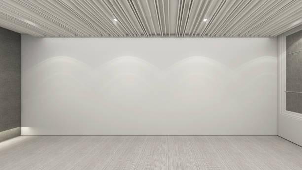 モダンな空の部屋、3 d レンダリング インテリア デザインのモックアップの図 - 会議室点のイラスト素材/クリップアート素材/マンガ素材/アイコン素材