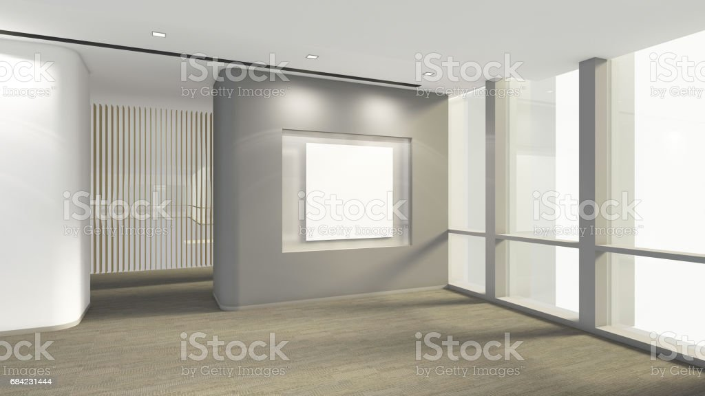 Modern Empty Room with blank frame for picture, 3d render interior design, mock up illustration royalty-free modern empty room with blank frame for picture 3d render interior design mock up illustration stock vector art & more images of apartment