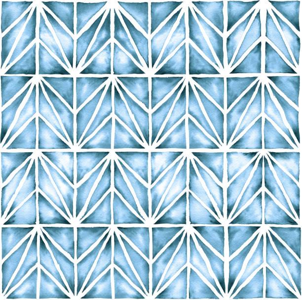 Moderno fondo acuarela geométrico - ilustración de arte vectorial
