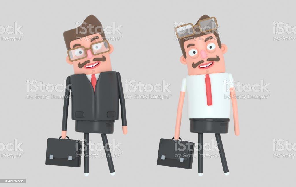 Moderno hombre de negocios guapo - ilustración de arte vectorial
