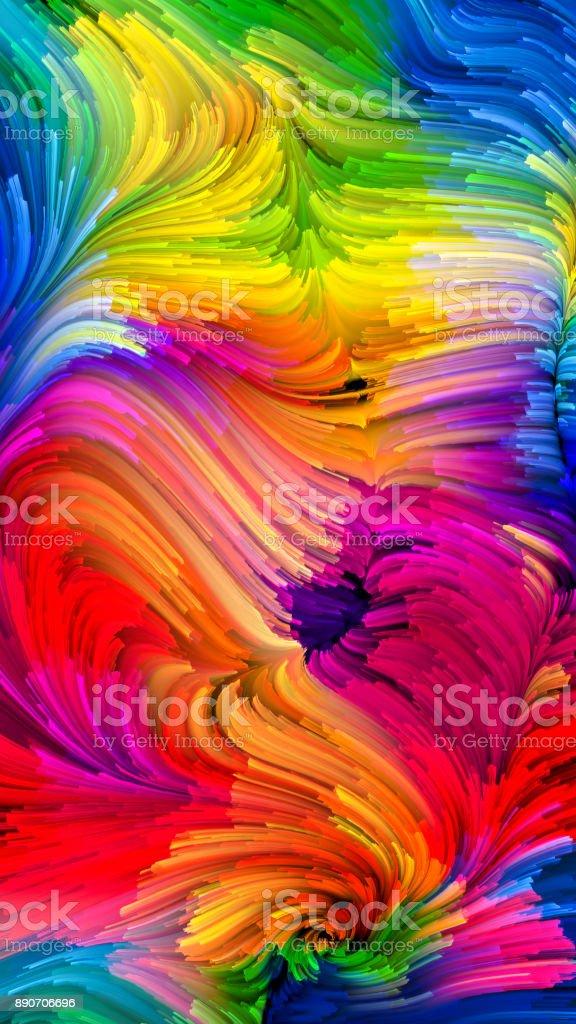 Modern Liquid Color vector art illustration
