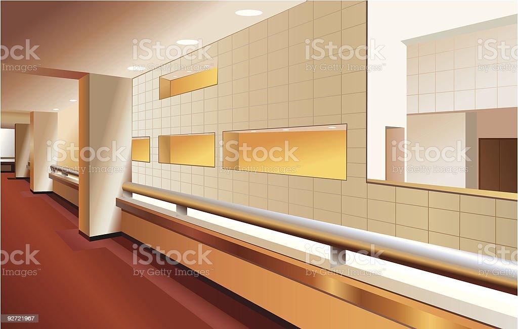 modern lobby interior royalty-free stock vector art