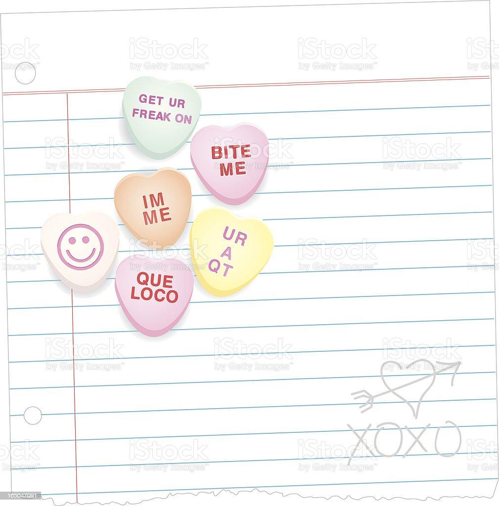 Modern Love vector art illustration
