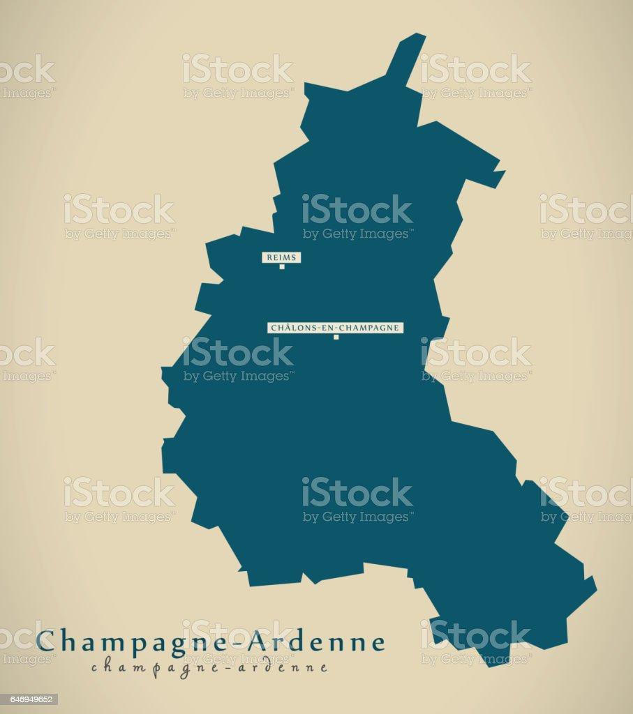 現代の地図 シャンパーニュ アル...