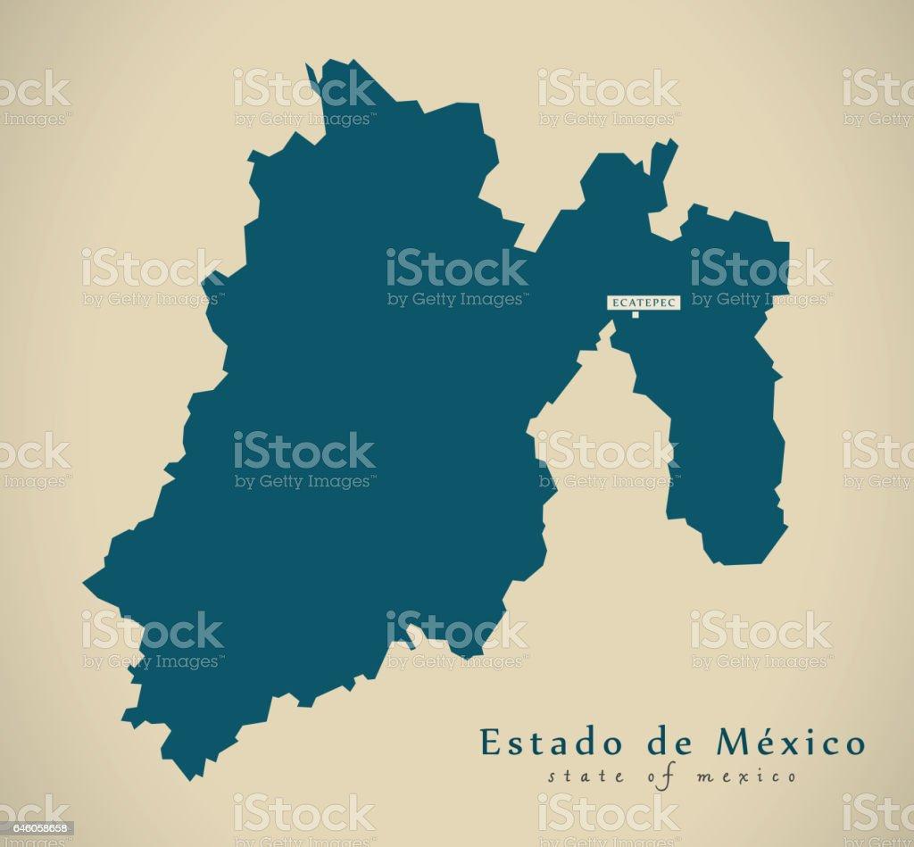 modern map estado de mexico mexico mx illustration royalty free modern map estado de