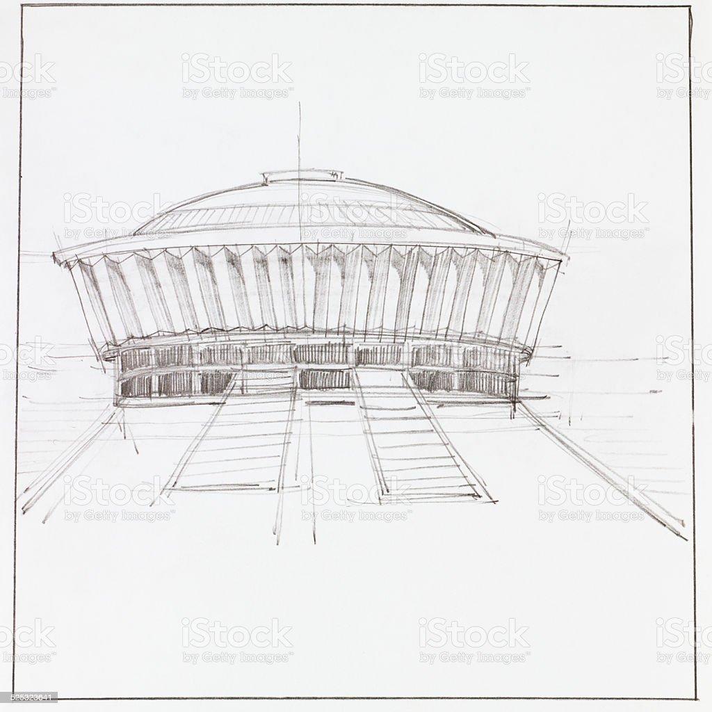 Moderne Pavilliongebäude Stock Vektor Art Und Mehr Bilder Von