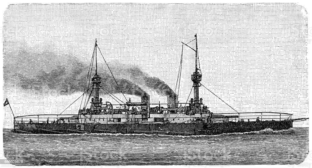Modern protected cruiser modern protected cruiser - immagini vettoriali stock e altre immagini di acquaforte royalty-free