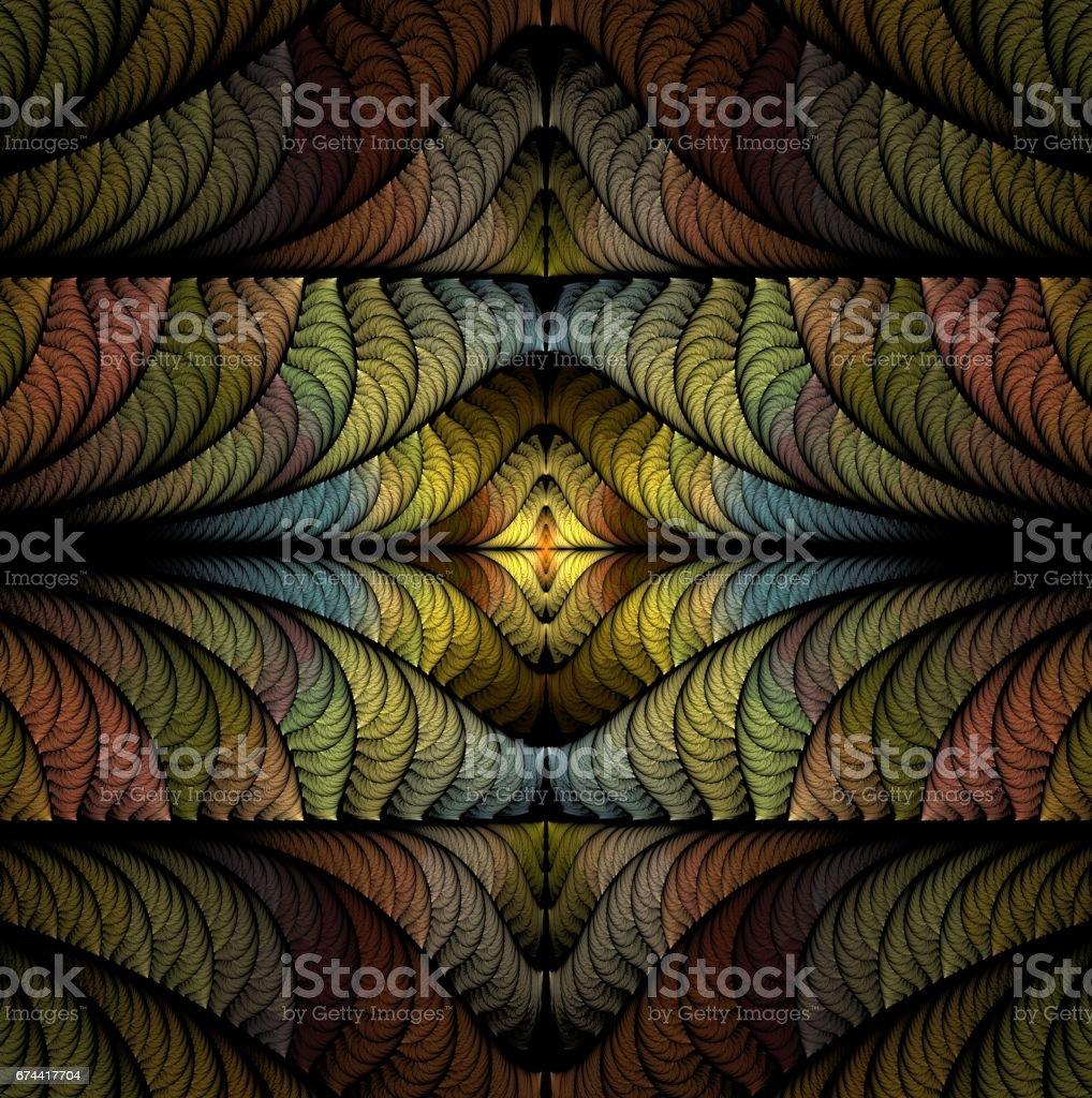 Texture Fractale Abstraite Elegant Moderne Est Une Image Generee Par