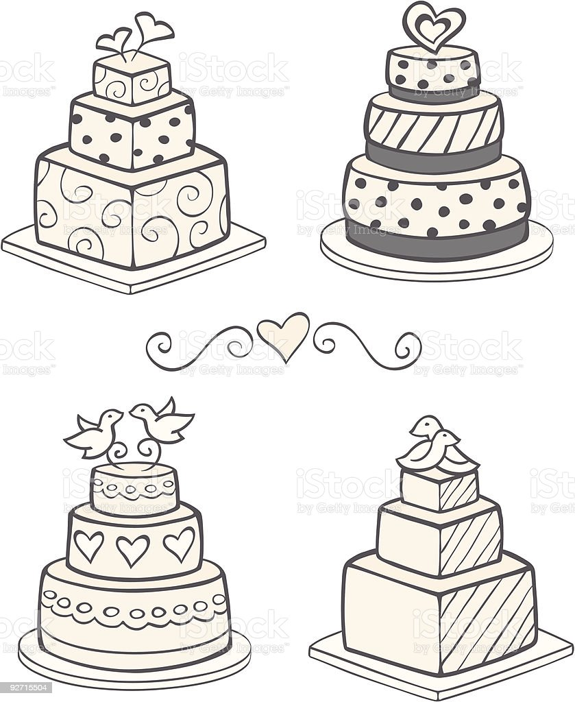 wedding cake vector modern wedding cakes stock vector amp more images of 26758