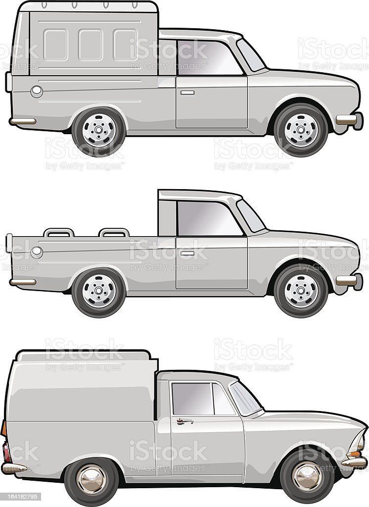 modifications delivery car royalty-free stock vector art