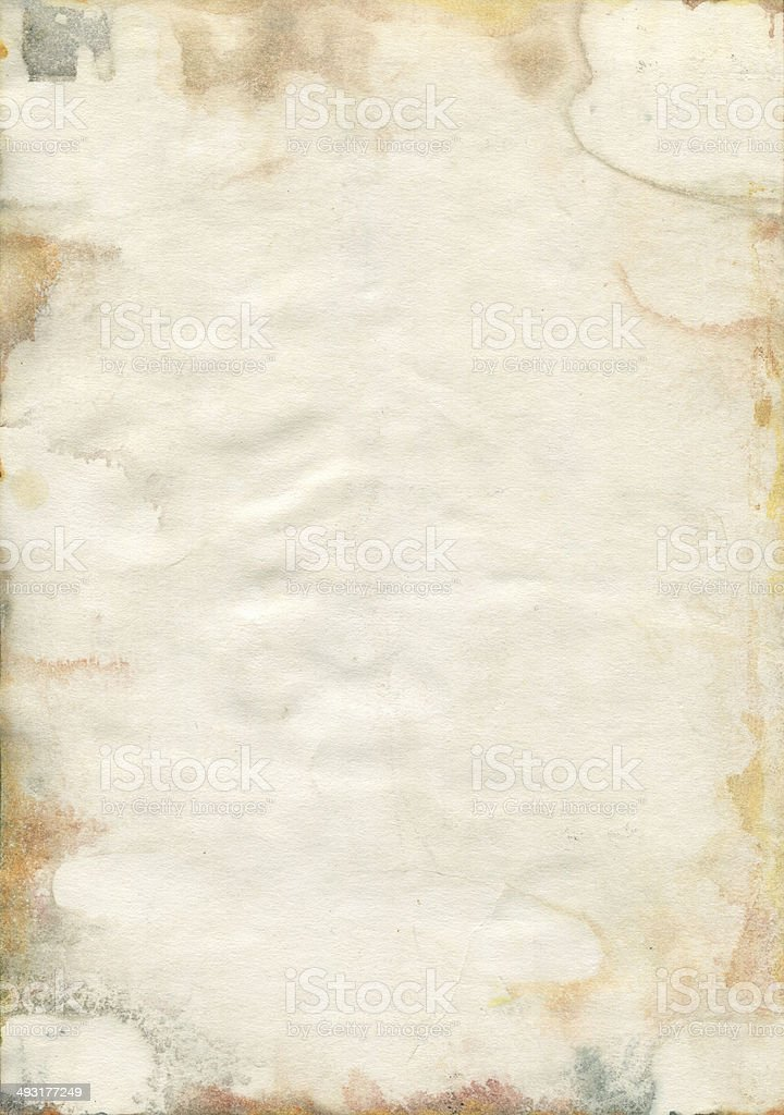 Moldy old watercolor paper texture vector art illustration