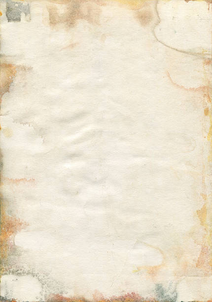 Moldy old watercolor paper texture Damaged and Moldy old watercolor paper. wet stock illustrations