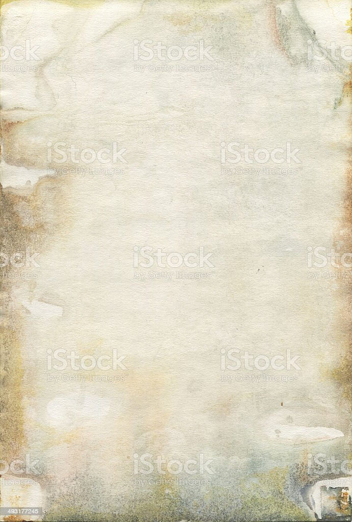 Moldy old watercolour paper texture vector art illustration