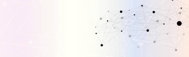 分子連接和技術摘要向量藝術插圖
